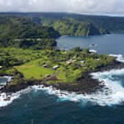 Keanae Peninsula Aerial Art Print