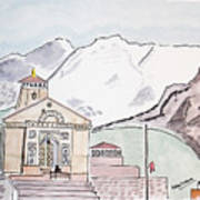 Kedarnath Jyotirling Art Print