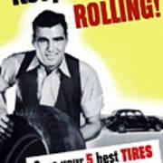Keep America Rolling Art Print