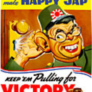 Keep Em Pulling For Victory - Ww2 Art Print