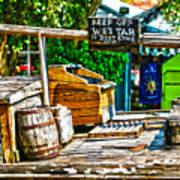 Keep Off Wet Tar It Don't Come Off Key West Florida Art Print