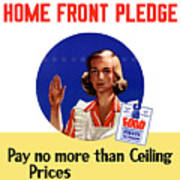 Keep The Home Front Pledge Art Print