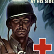 Keep Your Red Cross At His Side Art Print
