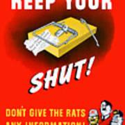 Keep Your Trap Shut -- Ww2 Propaganda Art Print