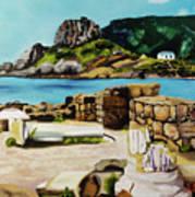 Kefalos, Greece Art Print