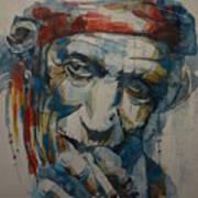 Keith Richards Art Art Print