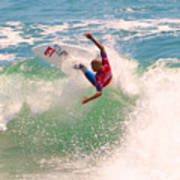 Kelly Slater  Us Open Of Surfing 2012     7 Print by Jason Waugh