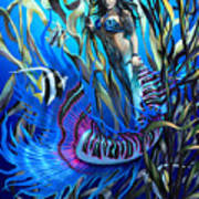 Kelp Mermaid Art Print