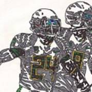 Kenjon Barner And Marcus Mariota Art Print by Jeremiah Colley