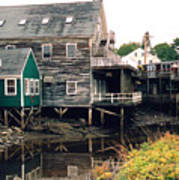 Kennebunkport At Low Tide Art Print