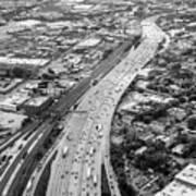 Kennedy Expressway And Chicago Skyline Art Print