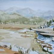 Kennedy Meadows Half In Winter Art Print by Amy Bernays