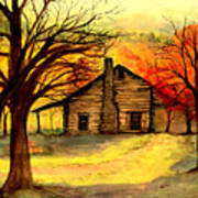 Kentucky Cabin Art Print