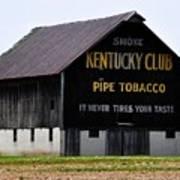 Kentucky Club Pipe Tobacco Barn Art Print