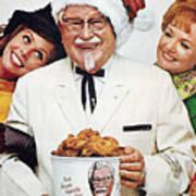 Kentucky Fried Chicken Ad Art Print