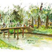 Kerekbrugje Art Print