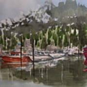 Ketchican Marina Art Print