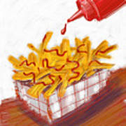 Ketchup And Fries Art Print