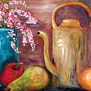 Kettle And Fruit Art Print