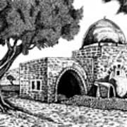 Kewer- Tomb  Rachel Art Print by Jonatan Kor