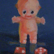 Kewpie On A Roll Art Print