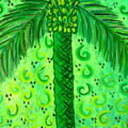 Key Lime Palm Art Print