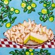 Key Lime Pie Mini Painting Art Print
