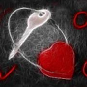 Key To The Heart Art Print