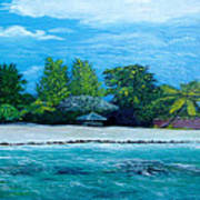 Key West Beach Art Print