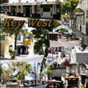 Key West Collage Art Print