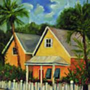Key West Cottage Art Print