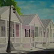 Key West Cottages Art Print