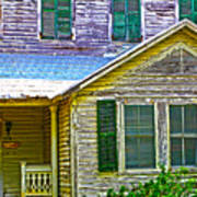 Key West Florida Clapboard Home Art Print
