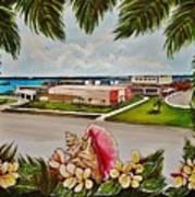 Key West High School From The 60's Era Art Print