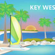 Key West Horizontal Scene Art Print