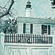 Key West Lighthouse Impression Art Print