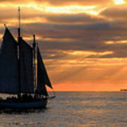Key West Sunset Sail 6 Art Print