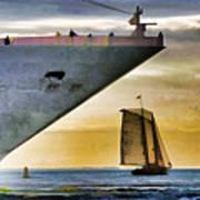 Key West Sunset Sail Art Print