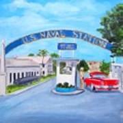 Key West U.s. Naval Station Art Print