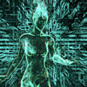 Keyed To The Matrix Art Print
