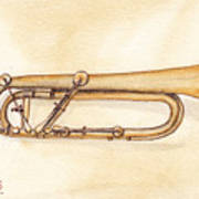 Keyed Trumpet Art Print