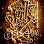 Keys Of A Symphonic Orchestra Art Print
