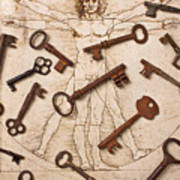 Keys On Artwoork Art Print