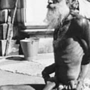 Khajuraho Yogi Art Print