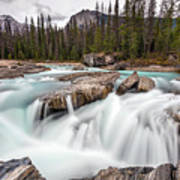 Kicking Horse River Cascades Art Print