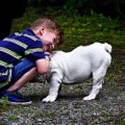 Kid And His Dog Art Print