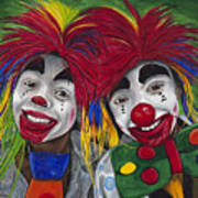 Kid Clowns Art Print by Patty Vicknair