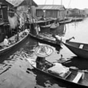 Waterways And Canoes Art Print