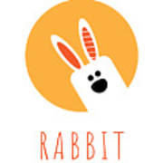 Kids Rabbit Poster Art Print