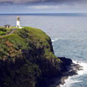 Kilauea Lighthouse On Kauai Hawaii Art Print